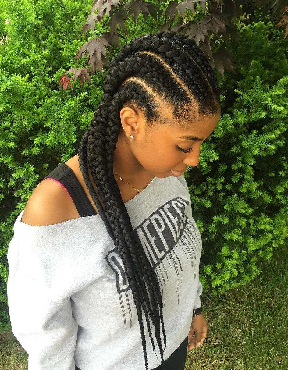 long thick cornrows