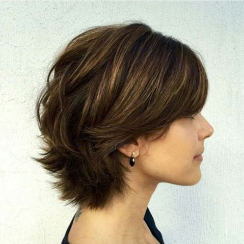 thick layered bob