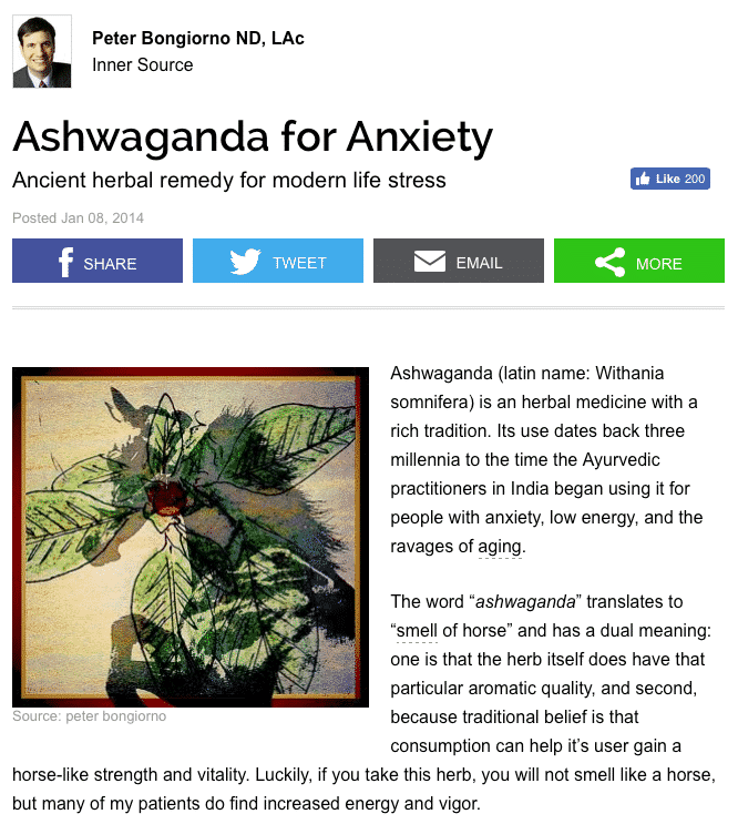 Ashwaganda for