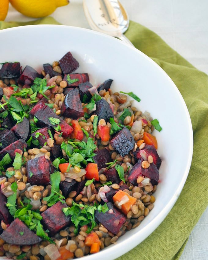 Lentils-with-Roasted-Beets-and-Lemon
