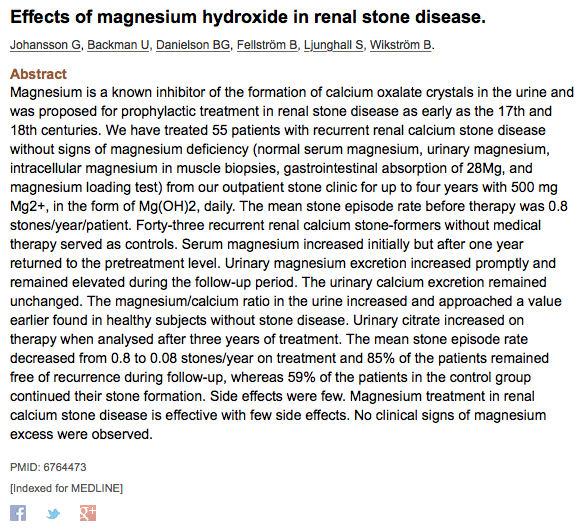 The Magnesium and Kidney Stone Connection