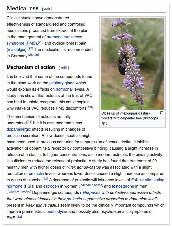 Vitex for Migraines wikipedia reference