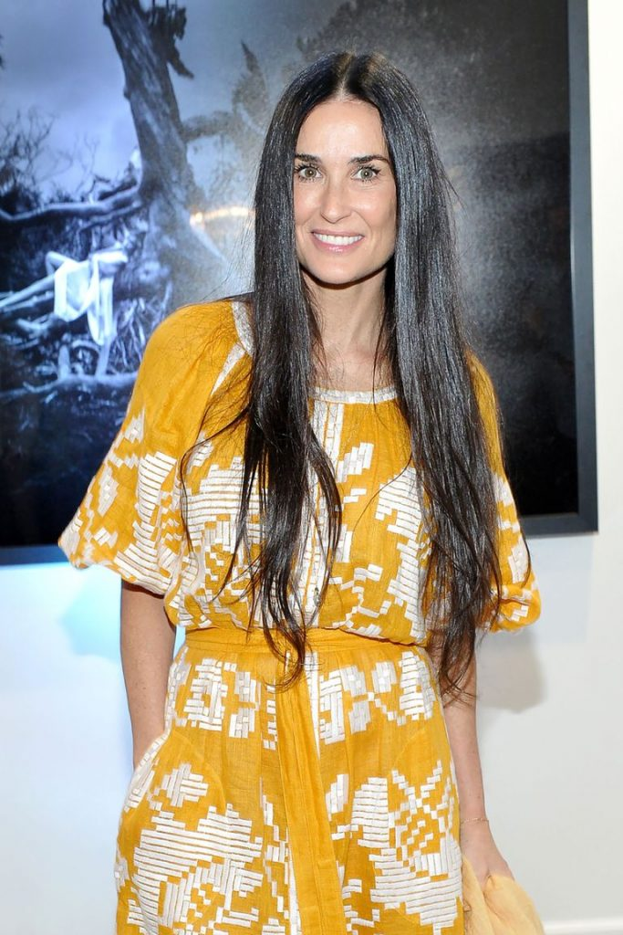 long hair demi moore
