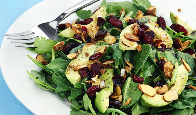 spinach salad vitamin b